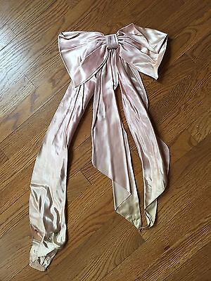 Early Satin Silky Ribbon Bow Hand Tied Trim Millinery Dress Embellishment Pink