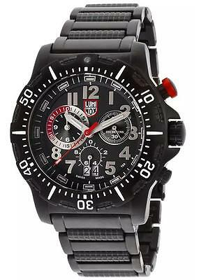 (brand new) Luminox 8362.RP Chronograph Black Dial Black Ion Plated Stainless