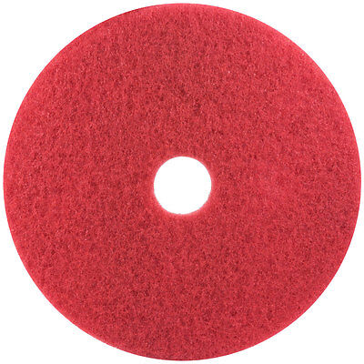 """5 3M 5100 16"""" Red Buffing Floor Pads"""