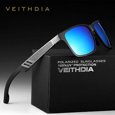 New VEITHDIA Men's Aluminum Polarized Sunglasses Square Eyewear Driving Glasses