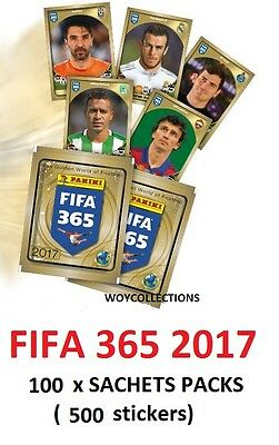 Stickers FIFA 365 2017 Set 100 packs sachets (500 stickers)