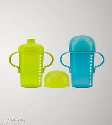 Boon SIP 10 oz. Firm Spout Sippy Cup - 2 Pack - Blue & Green