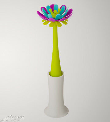 Boon Forb Silicone Bottle Brush - Blue/Purple