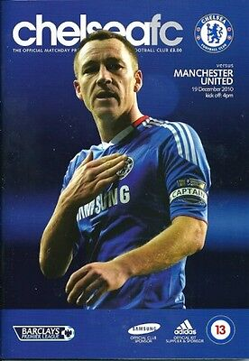 Chelsea v Manchester United 19.12.2010 Rare Postponed Edition