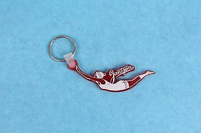 Vintage Jantzen Swimsuit Co. Diving Girl Advertising Plastic Key Chain