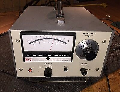 Tested KEITHLEY 410A PICOAMMETER ANALOG AMP METER .000000000010 AMPS