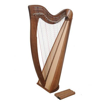 Muzikkon 28 String Claddagh Harp, Quality Celtic Harp with Levers Sale
