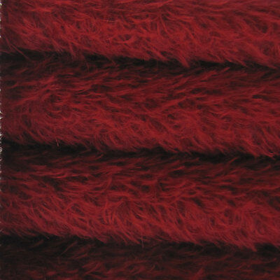 "1/6 yd 325S/CM Crimson INTERCAL 5/8"" Semi-Sparse Curly Matted Mohair Fur Fabric"