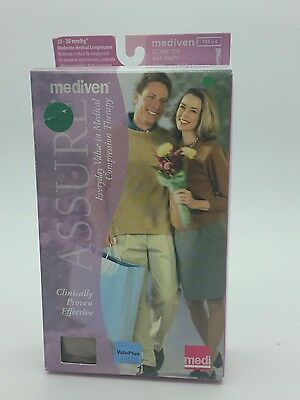 Mediven Assure 14303 Closed Toe Maternity Compression Pantyhose 20-30 XL Beige