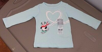Baby Girls Size 6 Months Long Sleeve Top NWT By Carter's Blue