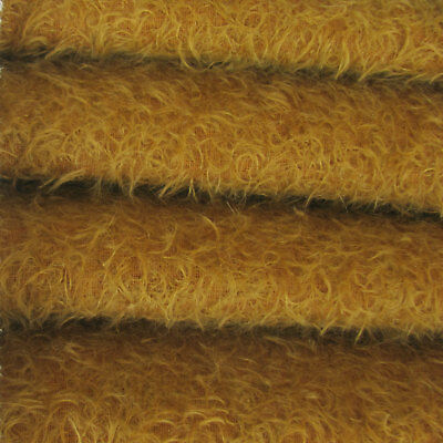"""1/4 yd 300S/CM Amber INTERCAL 1/2"""" Ultra-Sparse Curly Matted Mohair Fur Fabric"""