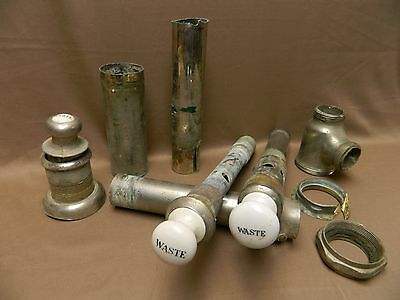 3 Antique Porcelain Waste Drain Plumbing Pipe Fixture For Claw foot Pedestal Tub