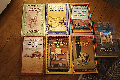 Lot of 7 Alexander McCall Smith books - p/b - very good condition