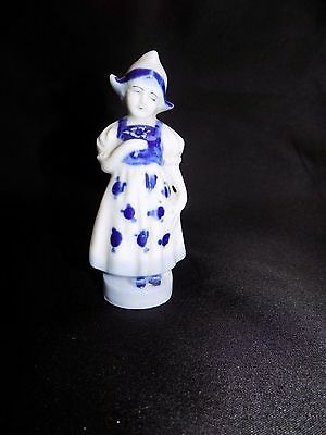 Vintage Blue and White Porcelain Dutch Girl Figurine Made In Japan