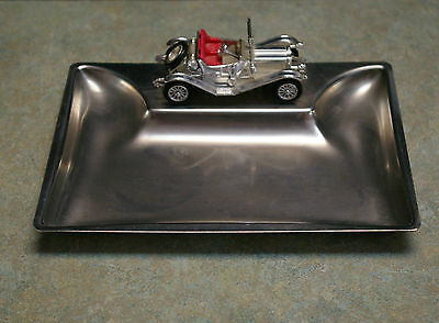 Vintage Original 'lesney' Stainless Steel Ashtray - Made In England