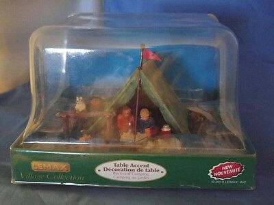 Lemax Christmas Village Collection Backyard Camping Table accent New