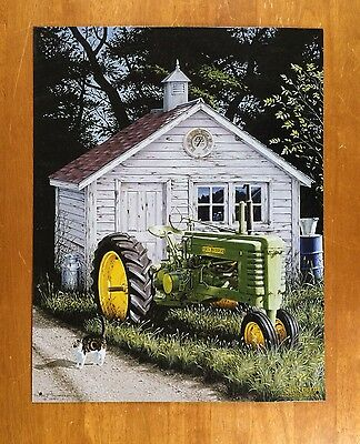 John Deere Tractor Tin Sign Neal Anderson Artwork
