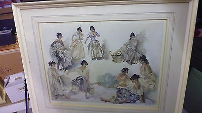 William Russell Flint Pencil Signed Limited Edition Print Variations On A Theme