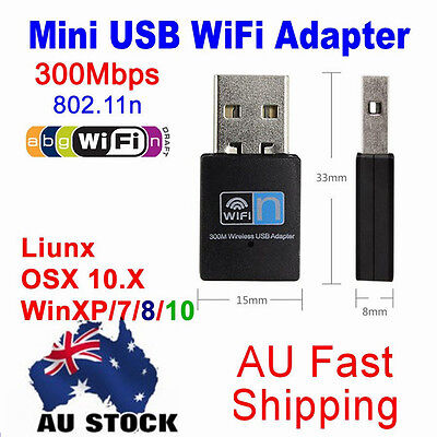 Pro 300Mbps Wireless WiFi USB 2.0 Adapter Receiver Dongle 802.11b/g/n Network