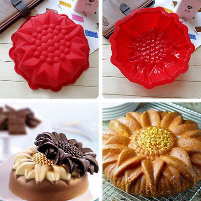 "9"" Sunflower Mold Silicone Mould Chocolate Cake Baking DIY Decorating Bakeware"