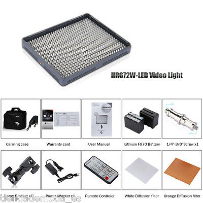 Aputure Amaran 672W CRI95+672 luce video LED + Telecomando 2.4G FSK Wireless EU