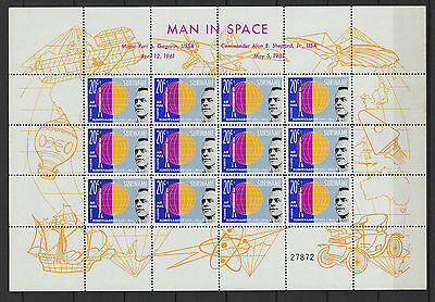 SURINAME  man in space 1961 feuille 12 timbres aériens neufs  /B5F3