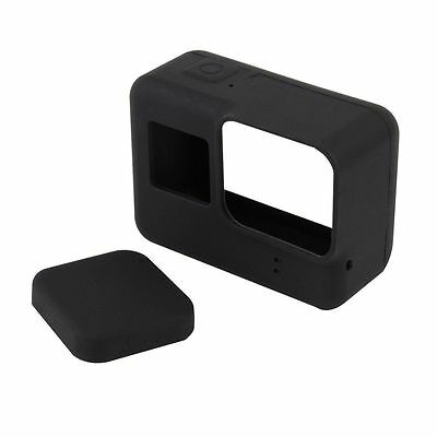 Black Silicone Protective Lens Cap Cover Housing Case For GoPro HERO 5 Camera