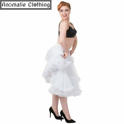 Banned Apparel 26 inch Dancing Days Lifeforms Petticoat White - 50s Retro Party