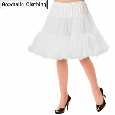 Banned Apparel White 20 inch Short Dancing Days Petticoat - 1950s Vintage Retro