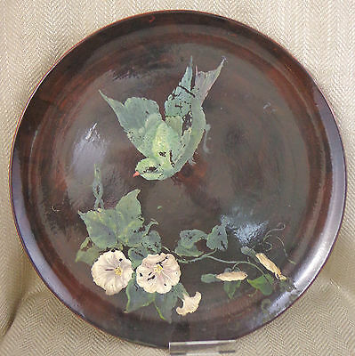 Rare Minton Mintons Charger Plate Hand Painted Antique Aesthetic Movement 1877