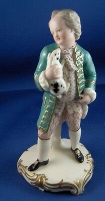 Rare 19thC Minton Porcelain Painted Parian Gentleman Figurine Figure English