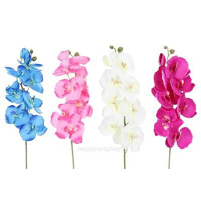 New Artificial Fake Silk Flower Phalaenopsis Butterfly Orchid Home Wedding Decor