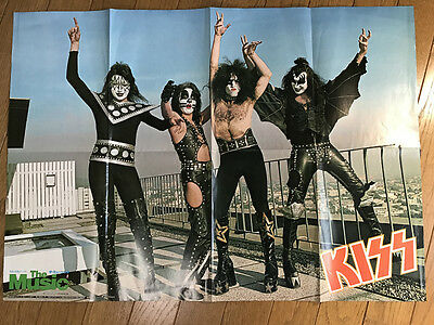 KISS Poster 1977 Japan The Music Bay City Rollers Paul Stanley Gene Simmons Rare