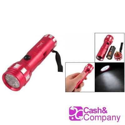 Red Mini Linterna 80 Lumens Blanco Linterna Led W Cuerdas Cuerda De Nailon 25