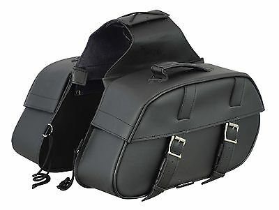 Genuine Leather Motorbike Saddle Bag Panniers Luggage Big Box Touring Cruisers