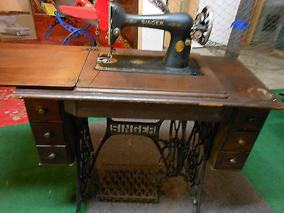 1925 Singer Model #66 Cabinet Style Sewing Machine