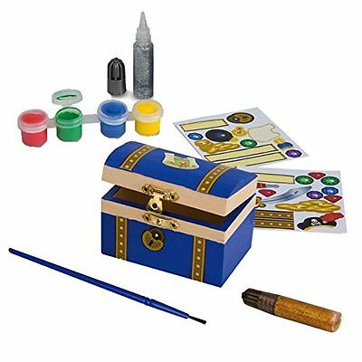 Melissa and Doug 18851 Decorate Your Own Pirate Chest Craft Kit & Paints