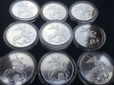 NEW !! Russia 3 Roubles 2016 St. George the Victorious  1 OZ Silver Coin