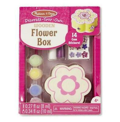 Melissa and Doug 18852 Decorate Your Own Flower Chest Craft Kit & Paints