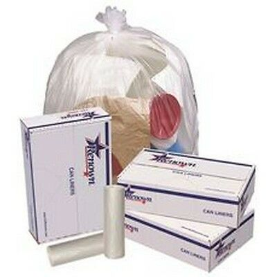 Renown Trash Can Liners Natural 40x48 16mic 25 Liners per Roll 10 Rolls per