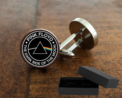Pink Floyd - The Dark Side Of The Moon - Cufflinks - 3D Glass Lens - Mens Gift