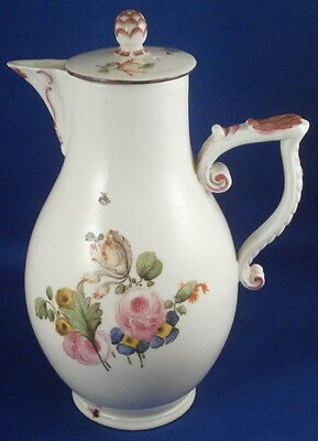 Antique 18thC Korzec Porcelain Coffee Pot Porzellan Kanne Polish Poland Korzek