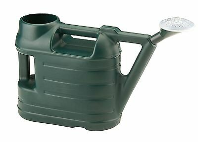 6.5 Litre Budget Durable Plastic Green Watering Can wt Rose Spray Sprinkler 6.5L