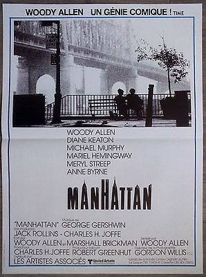 MANHATTAN Affiche Cinéma Pliée 55x40 Movie Poster WOODY ALLEN R1990