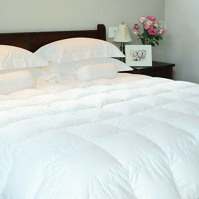 Luxury 100% Pure Snow White Hungarian Goose Down Duvet Quilt - All Sizes & TOGS