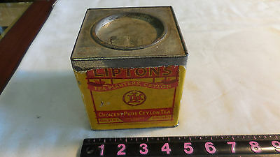 Vintage Lipton Tea Tin Planter Ceylon