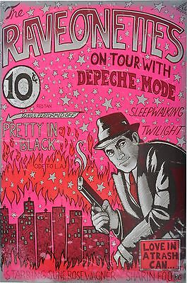 THE RAVEONETTES with DEPECHE MODE 2005 Concert POSTER