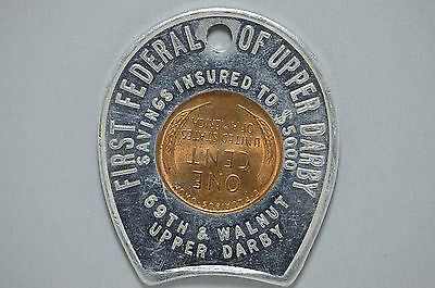 1948 Encased Lincoln Wheat Cent First Federal of Upper Darby Bank (cn3095)