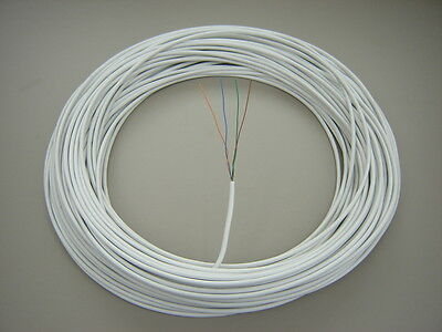 BT MANUFACTURED 50m 2 Pair CW1308 White Telephone Extension Cable SOLID COPPER