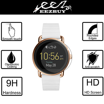 9H+ Tempered Glass Screen Protector Saver For Fossil Q Wander Smartwatch